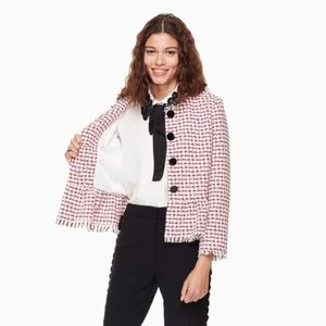 kate spade // NWT multi tweed jacket